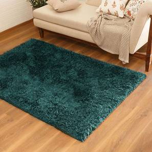 "Linton Shaggy Rug (48"" x 72"" Carpet Size, Teal) by Urban Ladder"