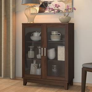 Alton Low Display Cabinet with 2 Doors (Walnut Finish) by Urban Ladder