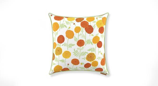 "Marigold Cushion Cover - Set Of 2 (18"" X 18"" Cushion Size, Multi Colour, Torana Pattern) by Urban Ladder"