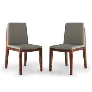 Galatea Dining Chair - Set Of 2 (Teak Finish, Grey) by Urban Ladder