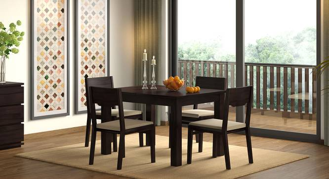 Arabia 4 to 6 Extendable Dining Table (Mahogany Finish) by Urban Ladder