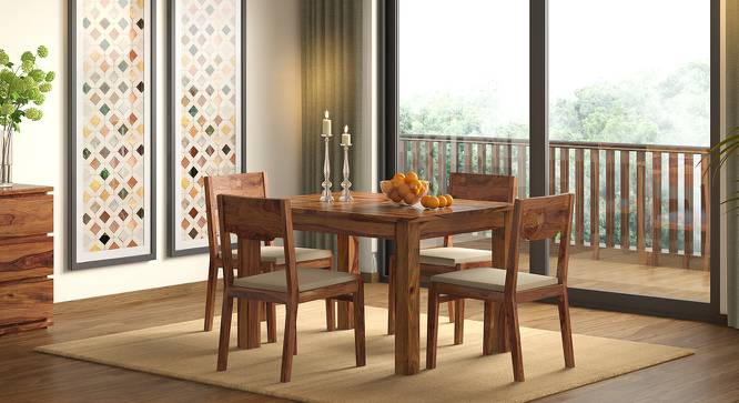 Arabia 4 to 6 Extendable Dining Table (Teak Finish) by Urban Ladder