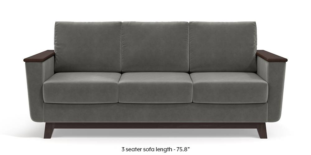 Corby Sofa (Ash Grey Velvet) by Urban Ladder
