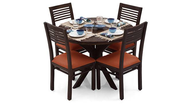 Liana - Zella 4 Seater Dining Table Set (Mahogany Finish, Burnt Orange) by Urban Ladder - - 23242
