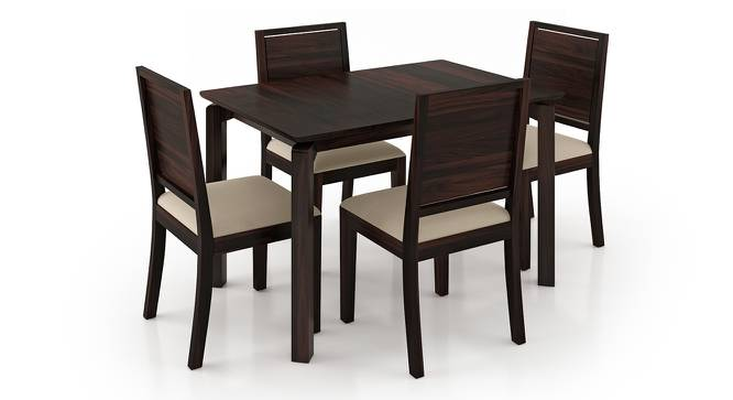 Catria - Oribi 4 Seater Dining Table Set (Mahogany Finish, Wheat Brown) by Urban Ladder