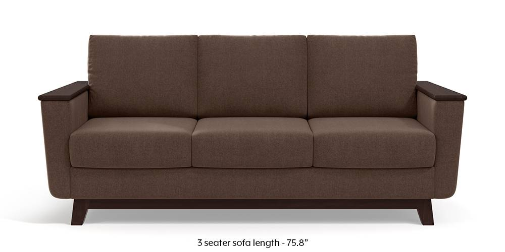 Corby Sofa (Daschund Brown) by Urban Ladder