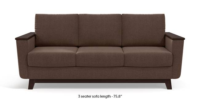 Corby Sofa (Daschund Brown) (3-seater Custom Set - Sofas, None Standard Set - Sofas, Fabric Sofa Material, Regular Sofa Size, Regular Sofa Type, Daschund Brown)