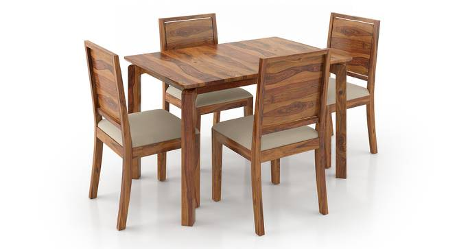 Catria - Oribi 4 Seater Dining Table Set (Teak Finish, Wheat Brown) by Urban Ladder - Front View Design 1 - 232493