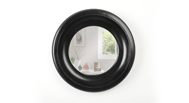 Amor Wall Mirror (Black Finish) by Urban Ladder - Front View Design 1 - 232618
