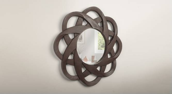Habbe Wall Mirror (Matte Brown Finish) by Urban Ladder