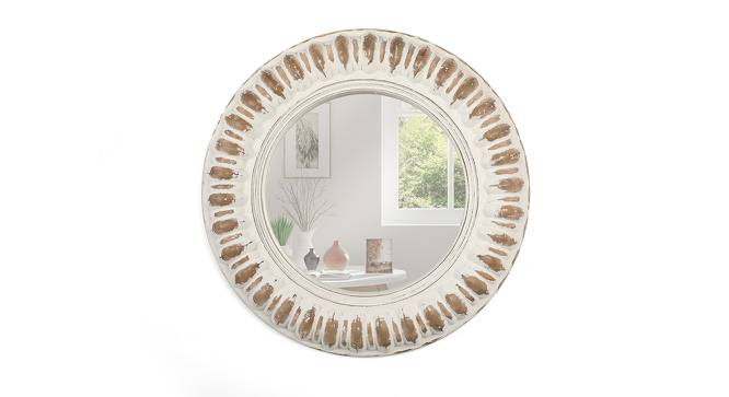 solis wall mirror (Distress White Finish) by Urban Ladder - Front View Design 1 - 232628