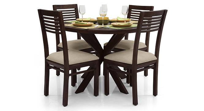 Liana - Zella 4 Seater Dining Table Set (Mahogany Finish, Wheat Brown) by Urban Ladder - - 23263