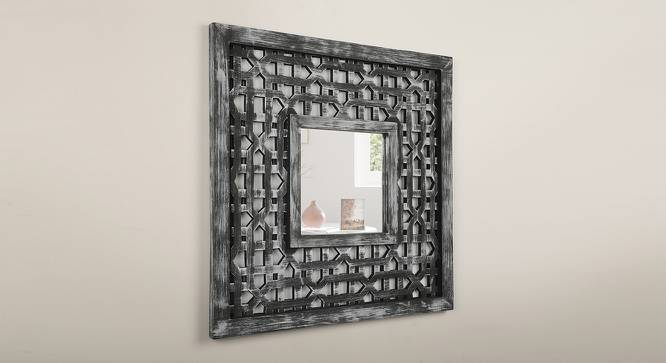 Sylvia Wall Mirror (Distress Grey Finish) by Urban Ladder