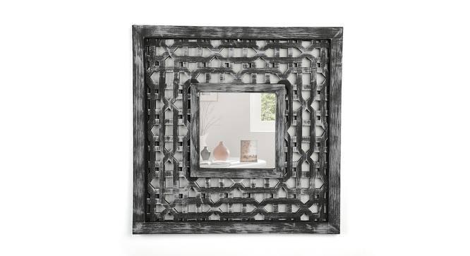 Sylvia Wall Mirror (Distress Grey Finish) by Urban Ladder