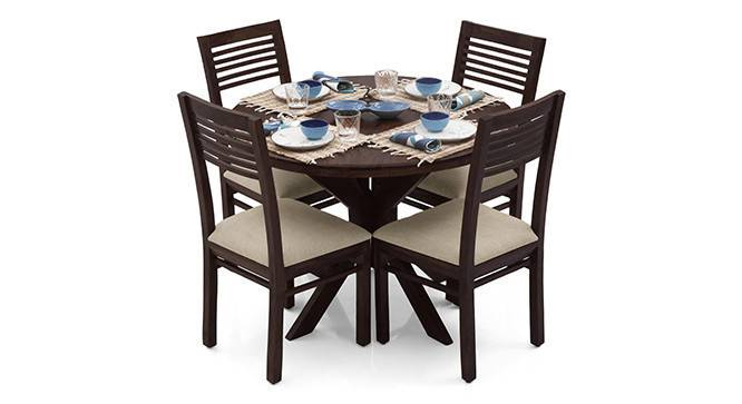 Liana - Zella 4 Seater Dining Table Set (Mahogany Finish, Wheat Brown) by Urban Ladder - - 23264