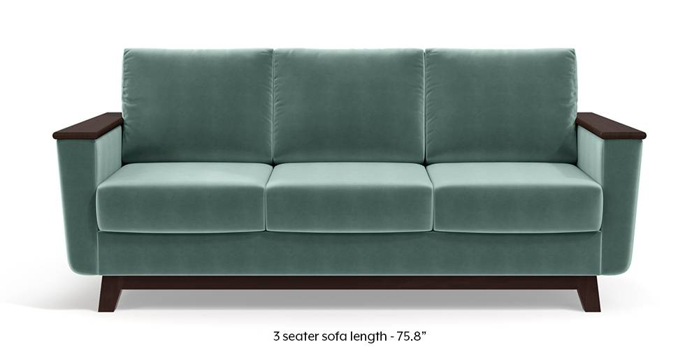 Corby Sofa (Dusty Turquoise Velvet) by Urban Ladder