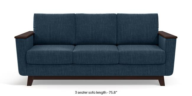 Corby Sofa (Indigo Blue) (3-seater Custom Set - Sofas, None Standard Set - Sofas, Indigo Blue, Fabric Sofa Material, Regular Sofa Size, Regular Sofa Type)