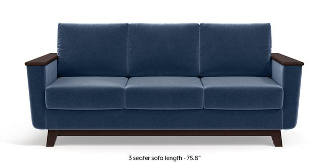 Corby Sofa (Lapis Blue) (3-seater Custom Set - Sofas, None Standard Set - Sofas, Fabric Sofa Material, Regular Sofa Size, Regular Sofa Type, Lapis Blue)