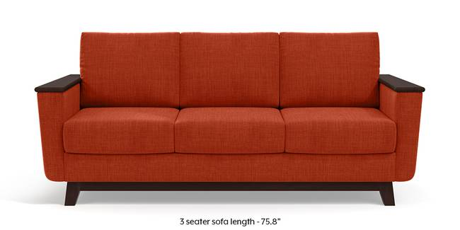 Corby Sofa (Lava Rust) (3-seater Custom Set - Sofas, None Standard Set - Sofas, Lava, Fabric Sofa Material, Regular Sofa Size, Regular Sofa Type)