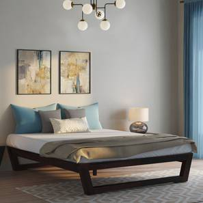 Caprica Bed (Mahogany Finish, Queen Bed Size) by Urban Ladder - Design 1 Full View - 232960