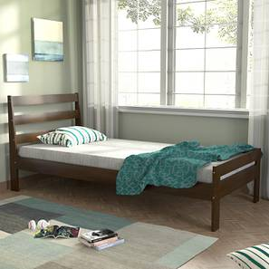 Osaka Single Bed (Single Bed Size, Dark Walnut Finish) by Urban Ladder