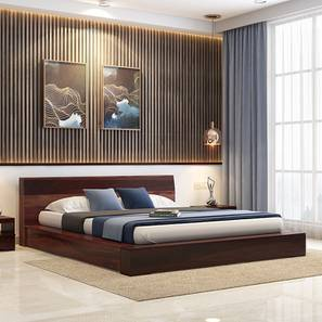 Duetto Platform Bed (Two-Tone Finish, Queen Bed Size) by Urban Ladder - Design 1 Full View - 233047