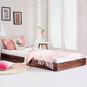 Merritt Trundle Bed (Teak Finish, Single Bed Size) by Urban Ladder - Design 1 Full View - 235581