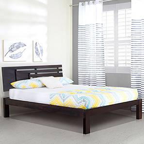 Stockholm Bed (Mahogany Finish, King Bed Size) by Urban Ladder