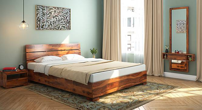 Ohio Bed (Teak Finish, Queen Bed Size) by Urban Ladder