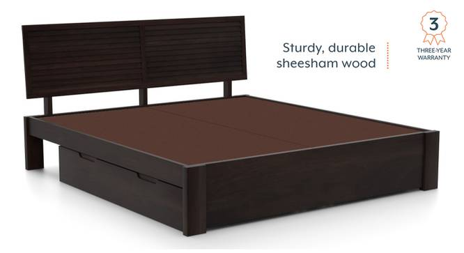Terence Storage Bed (Solid Wood) (Mahogany Finish, Queen Bed Size, Drawer Storage Type) by Urban Ladder - Front View Design 1 - 237409
