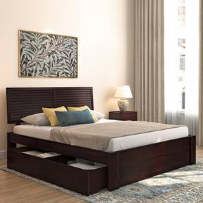 Terence Storage Bed (Mahogany Finish, King Bed Size, Drawer Storage Type) by Urban Ladder