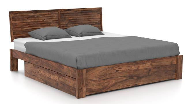 Terence Storage Bed (Solid Wood) (Teak Finish, King Bed Size, Drawer Storage Type) by Urban Ladder - Front View Design 1 - 237485