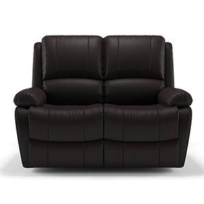 Tribbiani Two Seater Recliner Sofa (Chocolate Brown Leatherette) by Urban Ladder