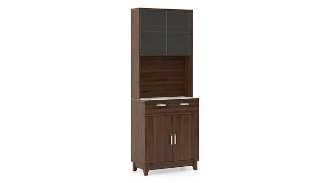 Alton 4 Door Tall Display Cabinet (Walnut Finish) by Urban Ladder