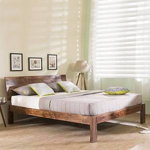 Boston Bed (Solid Wood) (Teak Finish, Queen Bed Size) by Urban Ladder - Design 1 Full View - 237687