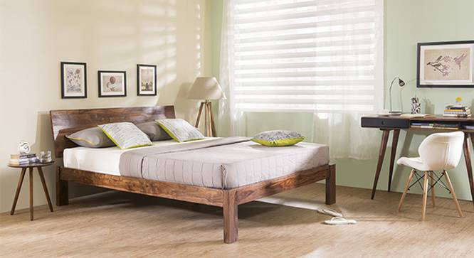 Boston Bed (Solid Wood) (Teak Finish, King Bed Size) by Urban Ladder - Design 1 Full View - 237714