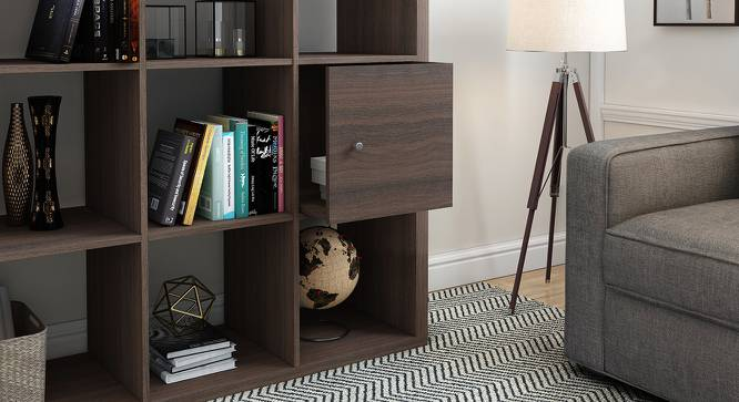 Boeberg Cabinet Inserts (Dark Walnut Finish) by Urban Ladder - Design 1 Half View - 239510