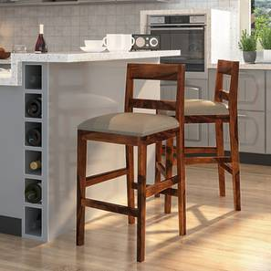 Stinson Bar Stool (Teak Finish, Counter Height) by Urban Ladder - Design 1 Full View - 239535
