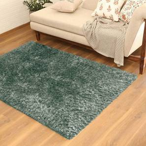 "Linton Shaggy Rug (36"" x 60"" Carpet Size, Mineral Blue) by Urban Ladder"