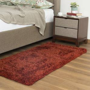 "Linton Shaggy Rug (Rust, 36"" x 60"" Carpet Size) by Urban Ladder"