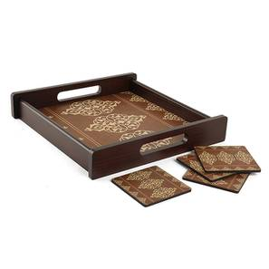 """Tahin Tray with Coaster (16""""' x 16"""" Size) by Urban Ladder"""