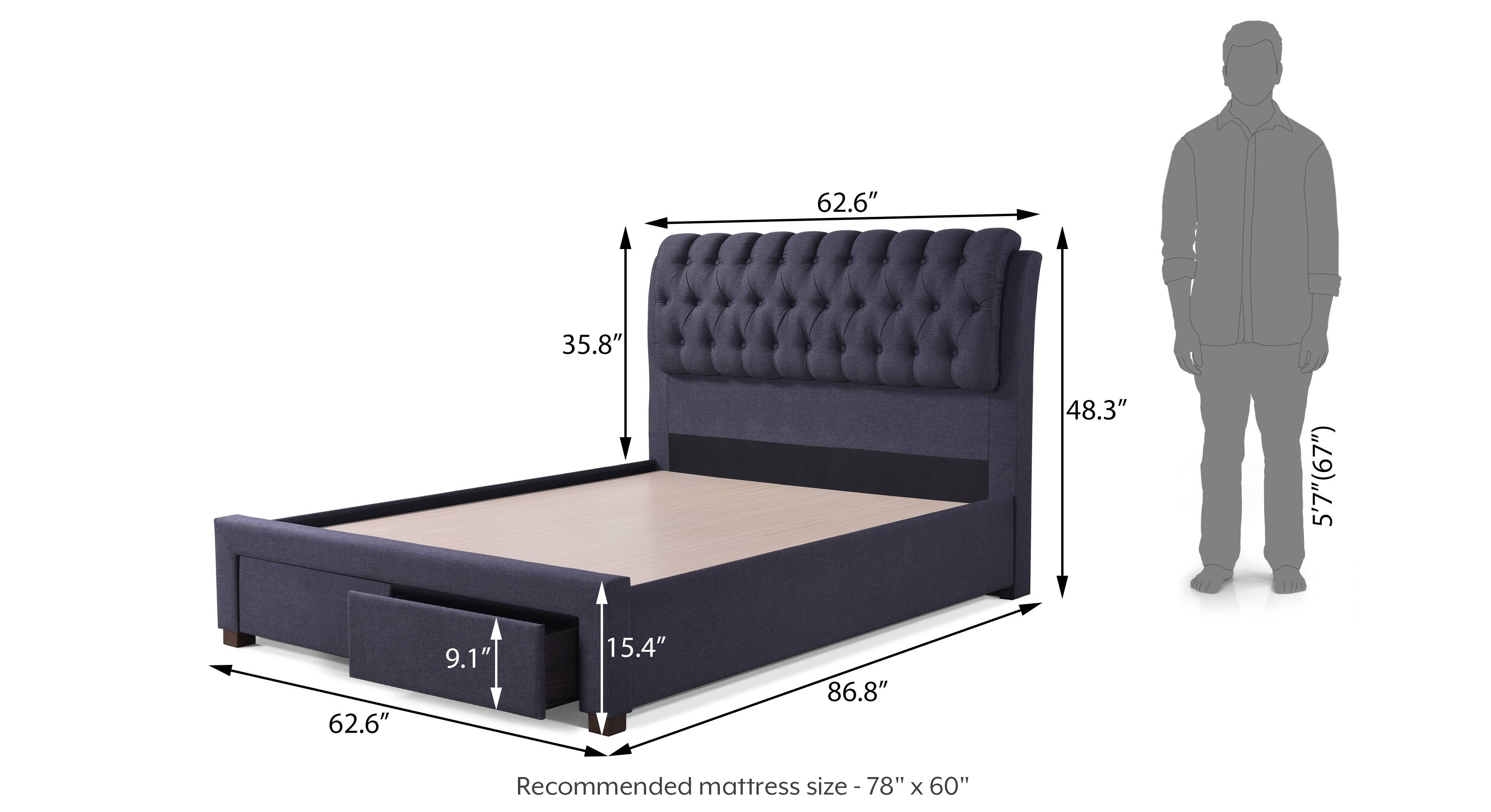 Cassiope upholstered storage bed queen 19