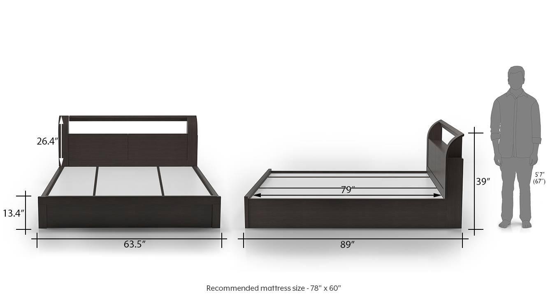 Sutherland hydraulic storage bed queen dark oak 13newdim