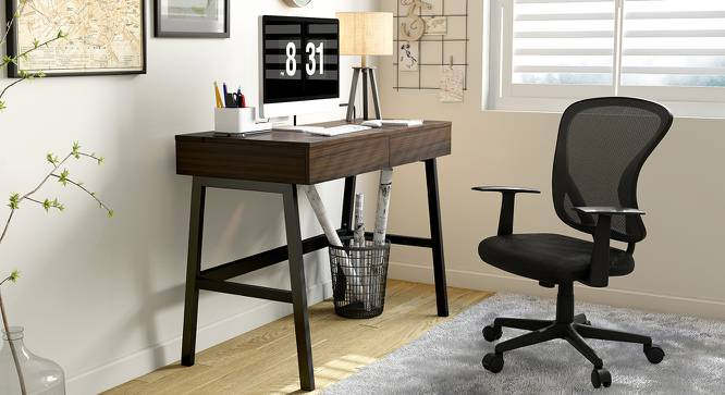 Kane Study Chair (Black) by Urban Ladder