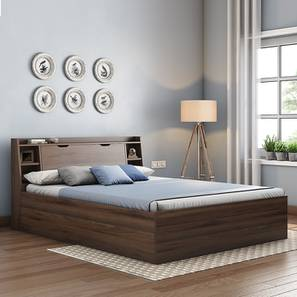 Scott Storage Bed (Walnut Finish, Queen Bed Size) by Urban Ladder