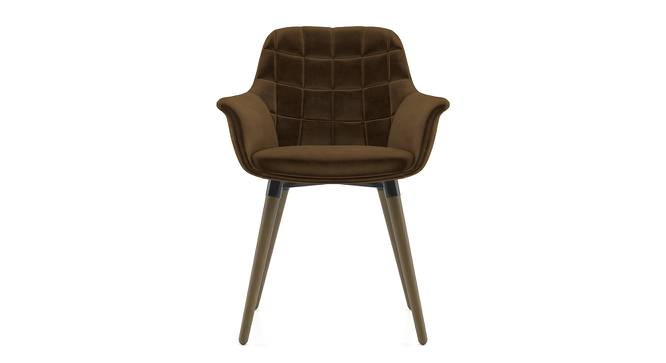 Sandra Accent Chair (Beaver Brown Velvet) by Urban Ladder