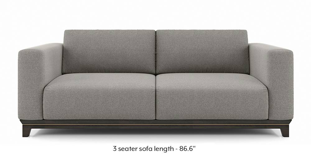 Taarkashi Sofa (Gainsboro Grey) (1-seater Custom Set - Sofas, None Standard Set - Sofas, Fabric Sofa Material, Regular Sofa Size, Regular Sofa Type, Gainsboro Grey) by Urban Ladder - - 240557