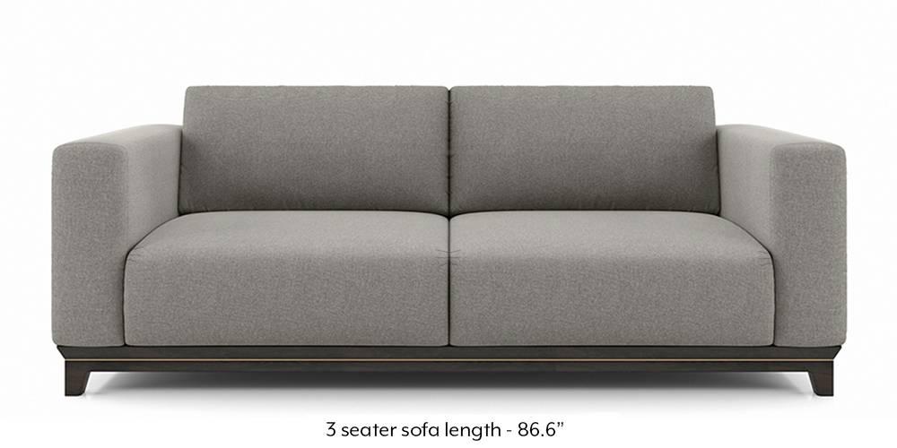 Taarkashi Sofa (Gainsboro Grey) (1-seater Custom Set - Sofas, None Standard Set - Sofas, Fabric Sofa Material, Regular Sofa Size, Regular Sofa Type, Gainsboro Grey) by Urban Ladder - - 240557