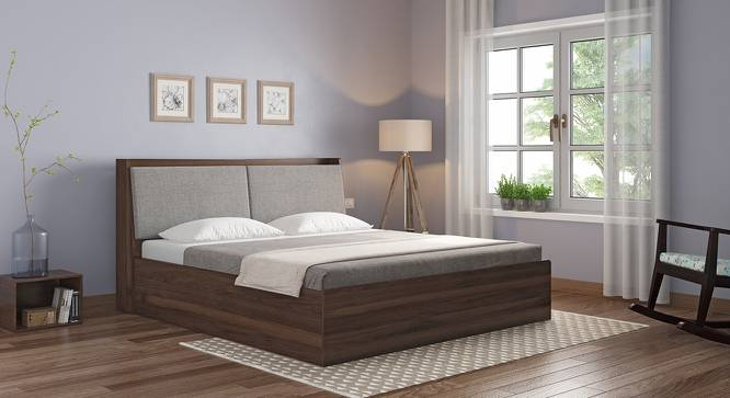 Tyra Storage Bed (Walnut Finish, King Bed Size) by Urban Ladder