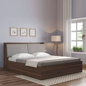 Tyra Storage Bed (Walnut Finish, Queen Bed Size) by Urban Ladder